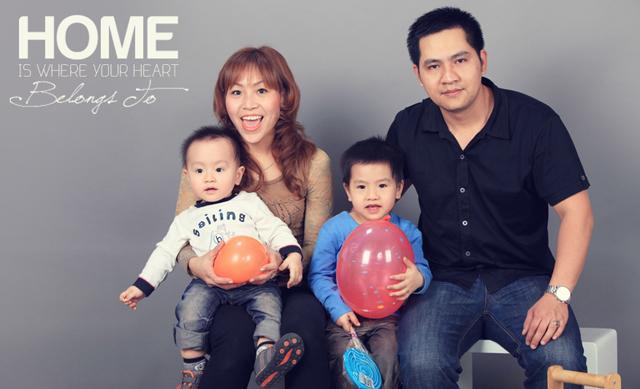 chụp ảnh gia đình tết