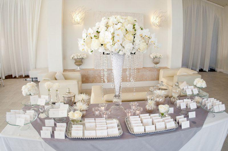 trang trí tiệc cưới theo màu sắc
