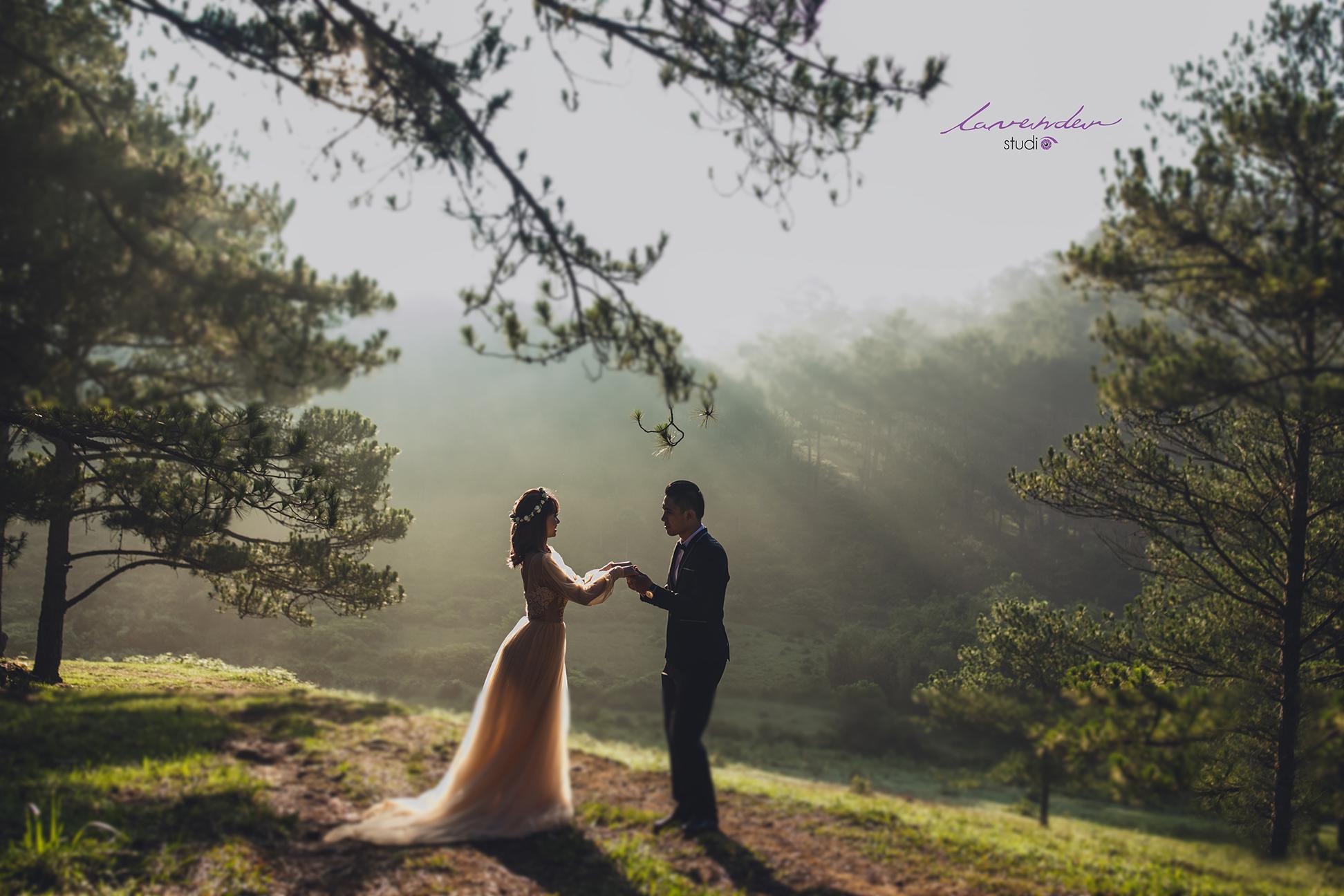 chụp hình cưới mùa xuân