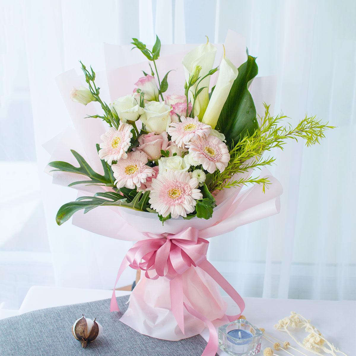 nghệ thuật tặng hoa
