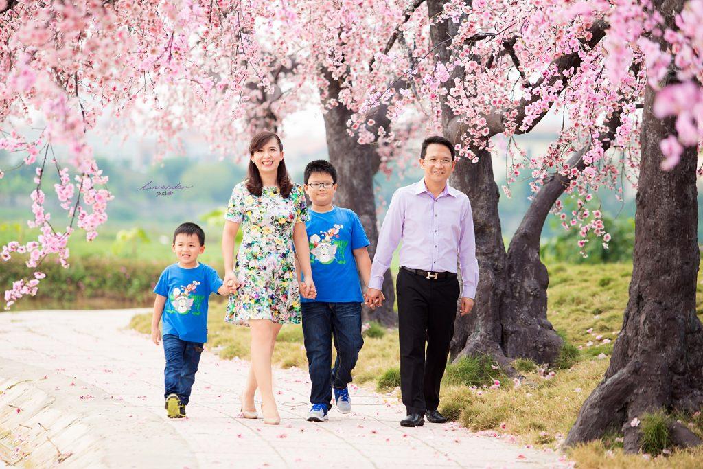 chụp hình gia đình tết